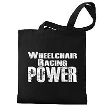 Eddany Wheelchair Racing power Canvas Tote Bag
