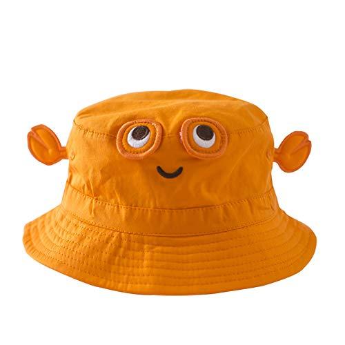 (TANGDA Baby Toddler Fisherman Bucket Hat Crab Pattern Sunhat With Chin Strap,Orange Crab,2-3YRS(51CM/20