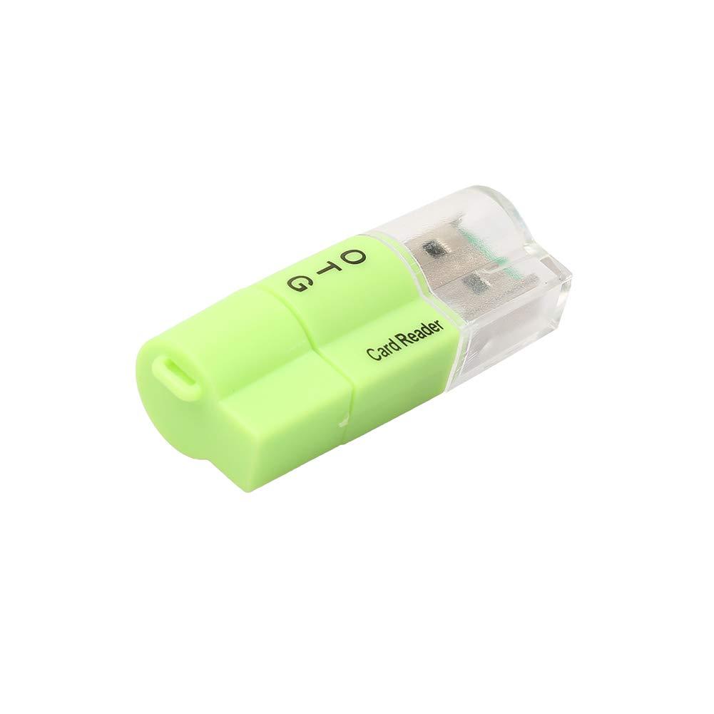lettore schede OTG USB 2 in 1 lettore schede SD USB Micro USB per PC Huhuswwbin Lettore di schede Verde