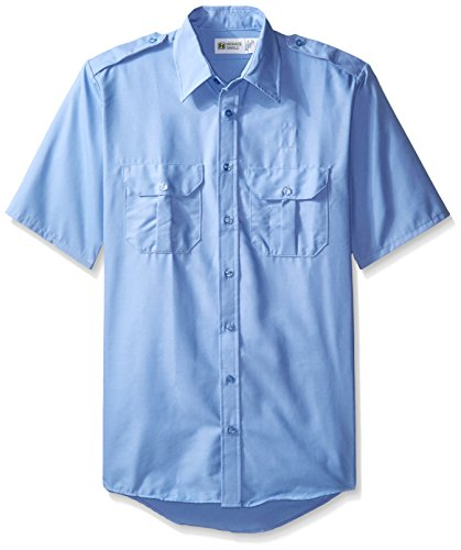 (Horace Small Men's Big and Tall Classic Short Sleeve Security Shirt, Medium Blue)