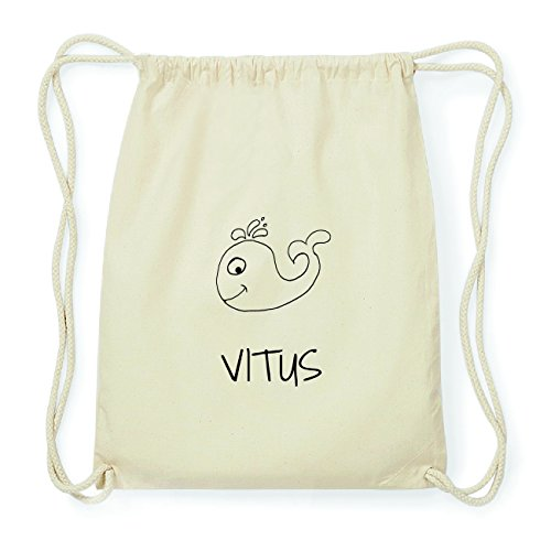 JOllipets VITUS Hipster Turnbeutel Tasche Rucksack aus Baumwolle Design: Wal 7ZyPM