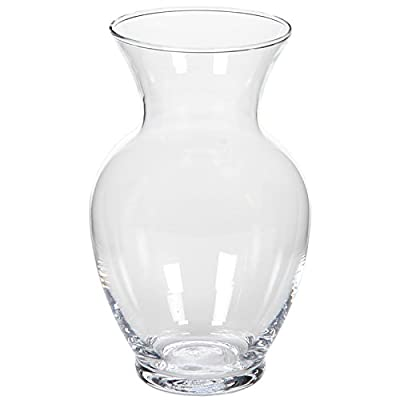 "Hosley 8.6"" High Clear Floral Rose Glass Vase. Ideal for Cut Flowers, Weddings, Spa, Special Occasions O3 - PRODUCT: Hosley's High Clear Floral Glass Vase- 8.6"" High. USES: These are just the right gift for a wedding and can be used for a party, reiki, spa. The vase can complement a variety of decors that other vases are limited in. BENEFITS: They can accent your home or office for the right decor with or without dry floral or greenery additions. - vases, kitchen-dining-room-decor, kitchen-dining-room - 41VMd8GHr2L. SS400  -"