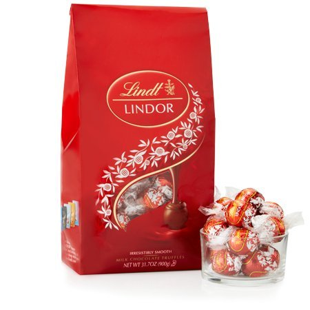 Lindt Lindor Chocolate Truffles Gift Bag - 75 Count - 31.7 Ounces - 900 Grams (Milk Chocolate Truffles) (Halloween Ecards Wine)