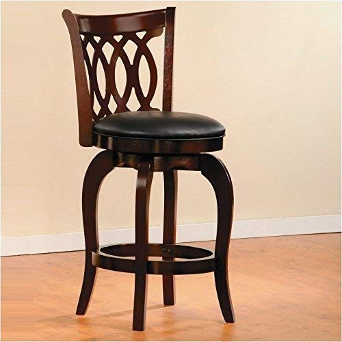 Homelegance Shapel Swivel Barstool, 24 SH, Cherry