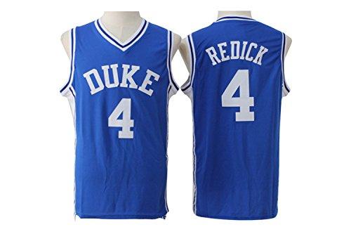 Men's Duke University #4 J.J. Redick Basketball Jersey 100% Stitched Mesh Throwback Blue Jersey XL