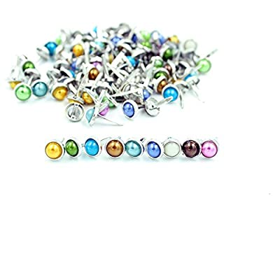 "6.5mm 1/4"" 200pcs Pearl Brads Scrapbooking Card Making Wedding Craft"