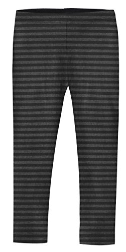 City Threads Girls' Leggings Cotton/Poly Blend for School or Play Perfect for Sensitive Skin or SPD Sensory Friendly Clothing, Stripe Black, 5