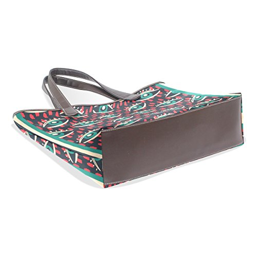 Coosun Womens Eyes Patterns Borsa Grande A Tracolla Per Borsa Shopping In Pelle