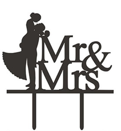 Elegant Wedding Cake Toppers (Elegant Wedding Couple Acrylic Cake Topper | Ideal For Your Wedding, Wedding Anniversary, Bachelor Party (Cake Topper - Style B))
