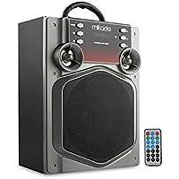 Mikado MD-466 15W Gri Usb+SD+Fm Destekli Bluetooth Müzik Kutusu, Siyah