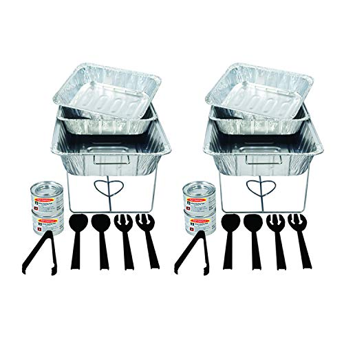 Party Essentials 22 Piece Party Serving Kit, Includes Chafing Kits, Methanol Fuel and Serving Utensils