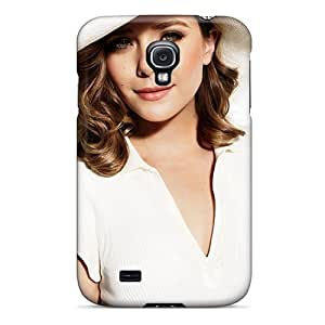Durable Elizabeth Olsen In White Dress Back /Case Cover For SamSung Galaxy S4 Inch Cover
