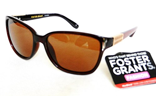 "Foster Grant Womens Polarized Sunglasses ""EPILOGUE"" 100% UVA & UVB + FREE BONUS MICROSUEDE CLEANING CLOTH"