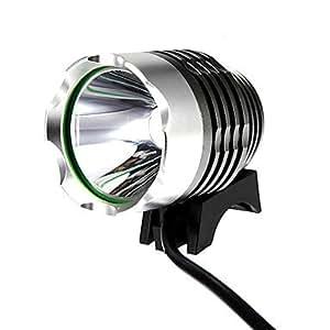 UltraFire T6 Water Resistant XML-T6 3-Mode 900Lumen White LED Bike Light with Battery Pack Set