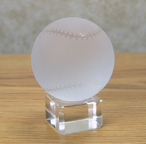 - BANBERRY DESIGNS Crystal Baseball on Crystal Base - Base Can Be Engraved (Engraving Not Provided by Seller) - Frosted Glass Baseball Paperweight - Gifts for Dad - Birthday Gifts for Dad
