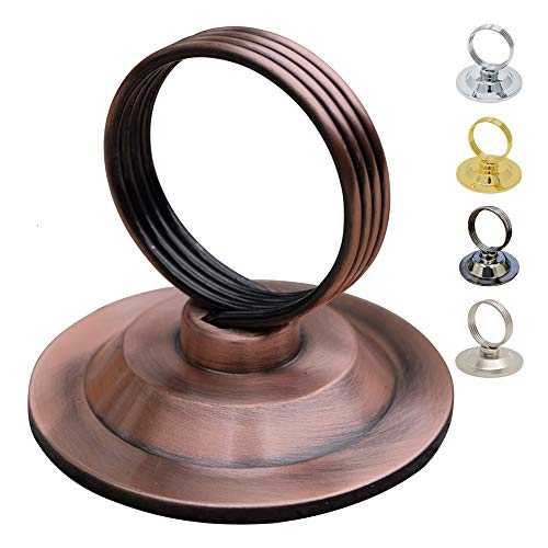 GrayBunny GB-6792AC Place Card Holder, 12 pack Antique Copper, Table Cardholder Tabletop Menu Holder Bronze Harp-Clip Number Recipe Holder Reserved Card Holder, For Restaurants Rustic Weddings Banquet