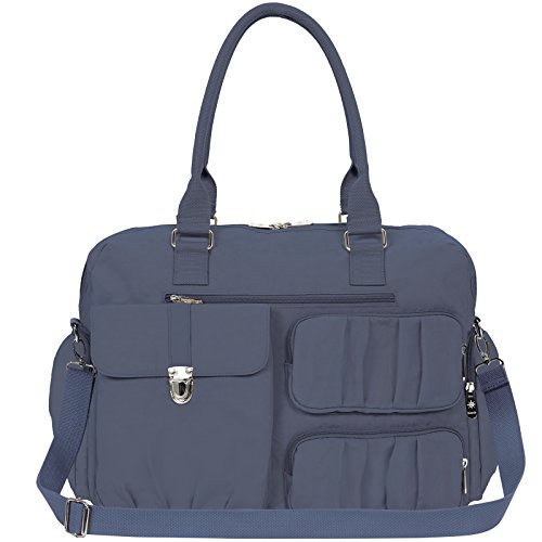 Mondo Top Handle Nylon Travel Tote Weekender Handbag with Shoulder Strap