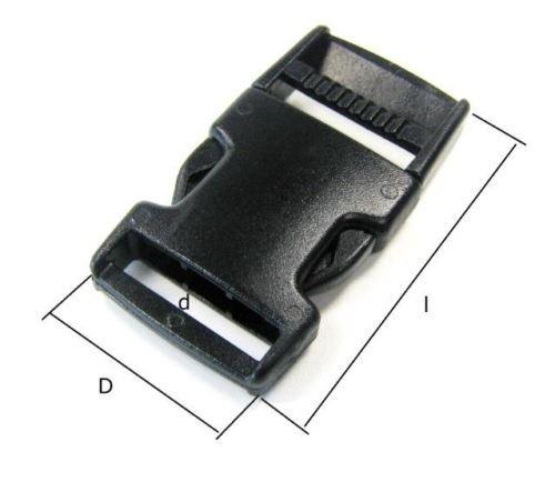 950054 10x Steckschnalle 20 mm Gurtschnalle Gurtverschluss Steckverschluss Gurt