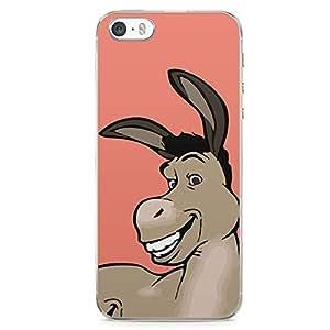 Loud Universe Shrek Friend Donkey iPhone SE Case Pink Donkey Cute iPhone SE Cover with Transparent Edges