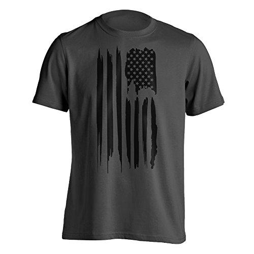 Black American Flag T-Shirt Large (American Flag Black T-shirt)