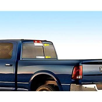 "For 2009-2018 Dodge Ram Tailgate Trim Cover W//Letter Cutout DODGE 6 1//4/"" 1PC"