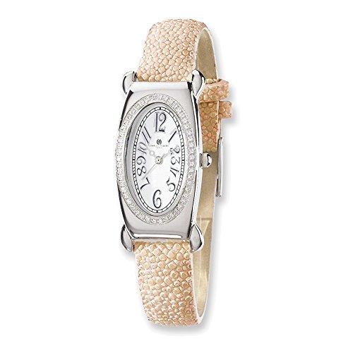Diamond Pink Stingray - Jewelry Adviser Charles Hubert Watches Ladies Charles Hubert Pink Stingray 0.68ct. Diamond 21x38mm Watch