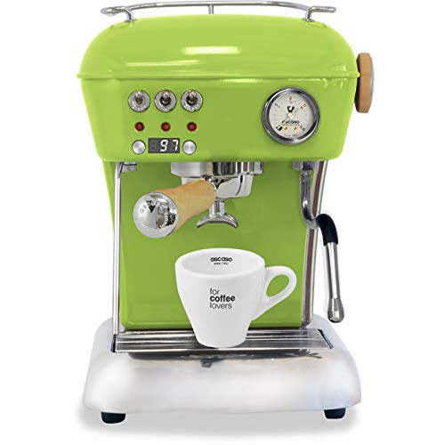 Ascaso Dream Up V3 Fresh Pistachio PID Wood Handle Semi-Automatic Espresso Machine – w/Ascaso Cup & Saucer