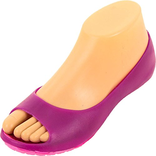 Sport Womens Cushion Sole Purple Jelly Ballet Flats 9 B(M) US