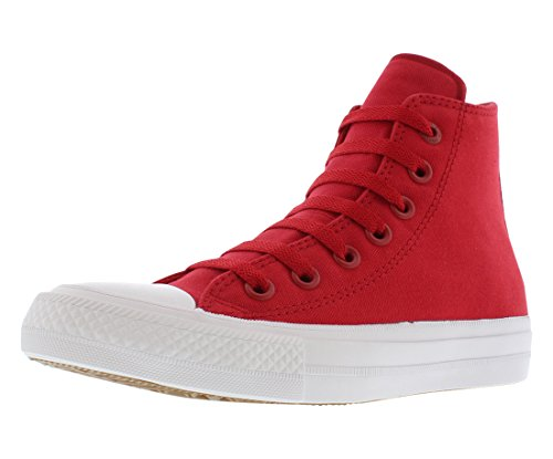 Converse Kids Unisex Chuck Taylor All Star II Hi (Big Kid) Salsa Red/White/Navy 5.5 M US Big Kid ()