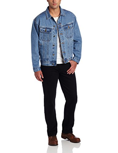 Wrangler Men's Rugged Wear Unlined Denim Jacket,Vintage Indigo,Large (Wear Mens Jeans)