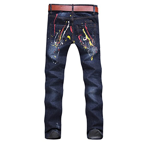 E.YUE Jeans-Herren Slim Fit Basic Style Stretch-Denim Jeans-Hose#705