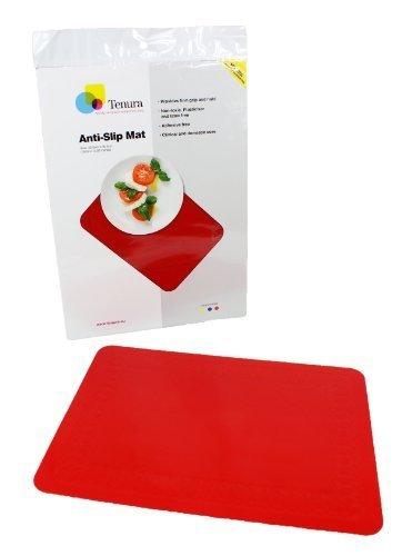 75373-3501 Red Tenura Antirutsch-Unterlage, Silikon, Anti-Rutsch-Matte, 34,9 10.16 cm lang 25.40 cm Breite von Tenura