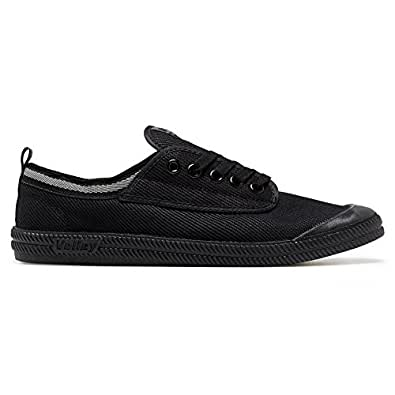 Volley International Canvas Unisex Casual Shoes, Black (Black/Dark Gr), 3 US