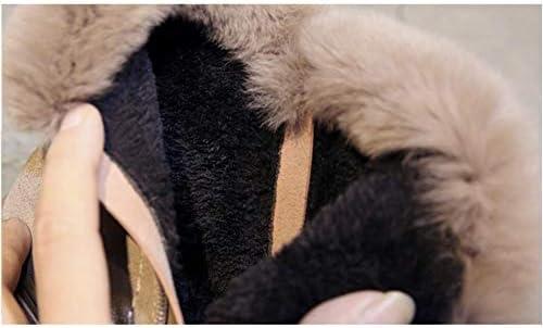 LHY Donna Neve Stivali, Donna Zipper Peluche Scarpe da Trekking Ragazze Sneakers Signore Warm Calzature Pattini Piani Casuali,Flesh,36