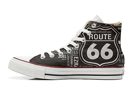 Converse All Star chaussures coutume mixte adulte (produit artisanal) Route 66 Black
