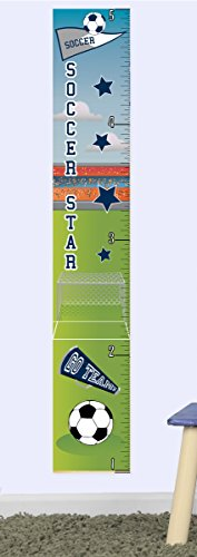Mona Melisa Designs GCSOCBOY ''No Name Growth Chart Soccer Boy'' Wall Decor Sticker by Mona Melisa Designs