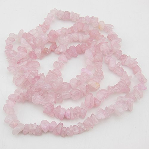 COIRIS 2 Strands 33'' Strand 5-8MM Pink Quartz Crystal Loose Chips Stone Gemstone Beads for Jewelry DIY or Making & Design - Strand 2 Design