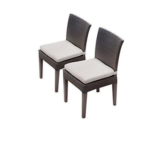 TKC Napa Wicker Patio Dining Chairs in Beige (Set of 2) ()