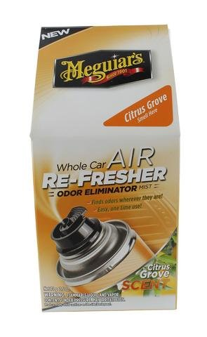 Meguiar's G16502 Car Air Refresher Odor Eliminator (Citrus Grove Scent) -2.5 oz. (Grove Scent)