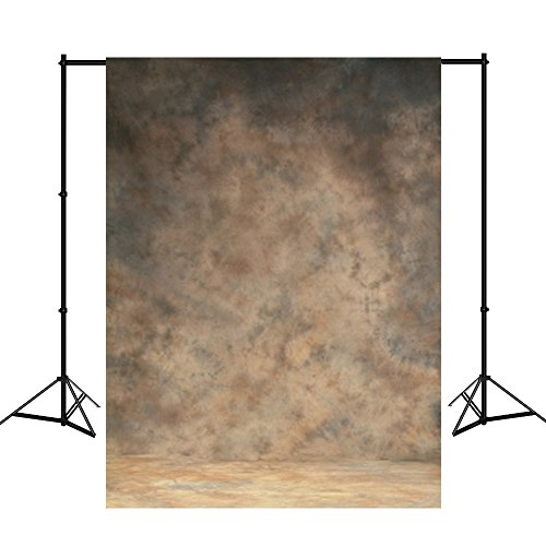 Mehofoto 10X12ft Hand Painted Muslin Photography Backdrops Collapsible Yellow and Grey Photo Background for Studio Props