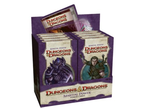 Martial Power Cards Assorted Decks Display Dungeons and Dragons Role Playing Game - Deck Assorted