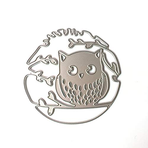 Metal Cutting Dies Stencil Metal Template for DIY Scrapbook Album Paper Card (Branch Owl -