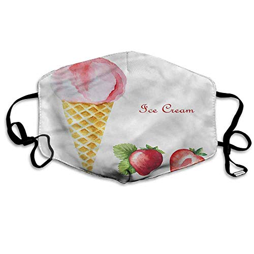 Ice Cream Dust Mouth Mask Summer Flavors for Men and Women W4