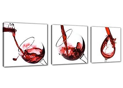 Moxo tela in vetro per vino rosso quadri stampe Wall Art per cucina ...
