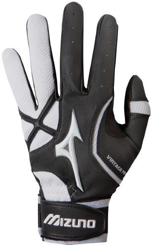 Mizuno Youth Vintage Pro G3 Batting Glove, Black/White, Small