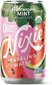Nixie Sparkling Water, Watermelon Mint | 12 fl oz cans, 24 pack | Organic, Non-GMO, 0 Calories, 0 Sugar, 0 Sod
