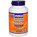 Now Foods Pumpkin Seed Oil, 1000mg, Softgels, 100ct