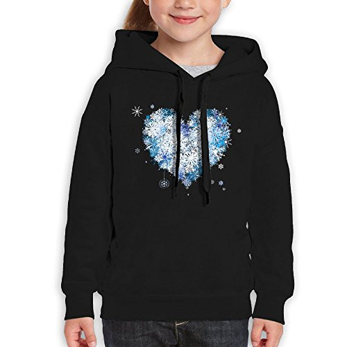 RWEA Flower Girl Sparkly Glitter HeartWedding Teenage Classic Print Sweat Shirts Casual Clothing by RWEA