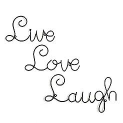 Live Love Laugh Set 3 Wall Mount Metal W...