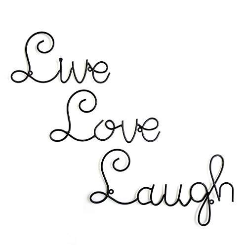 Live Love Laugh Set 3 Wall Mount Metal Wall Word Sculpture, Wall - Lobby Bathroom Mirrors Hobby